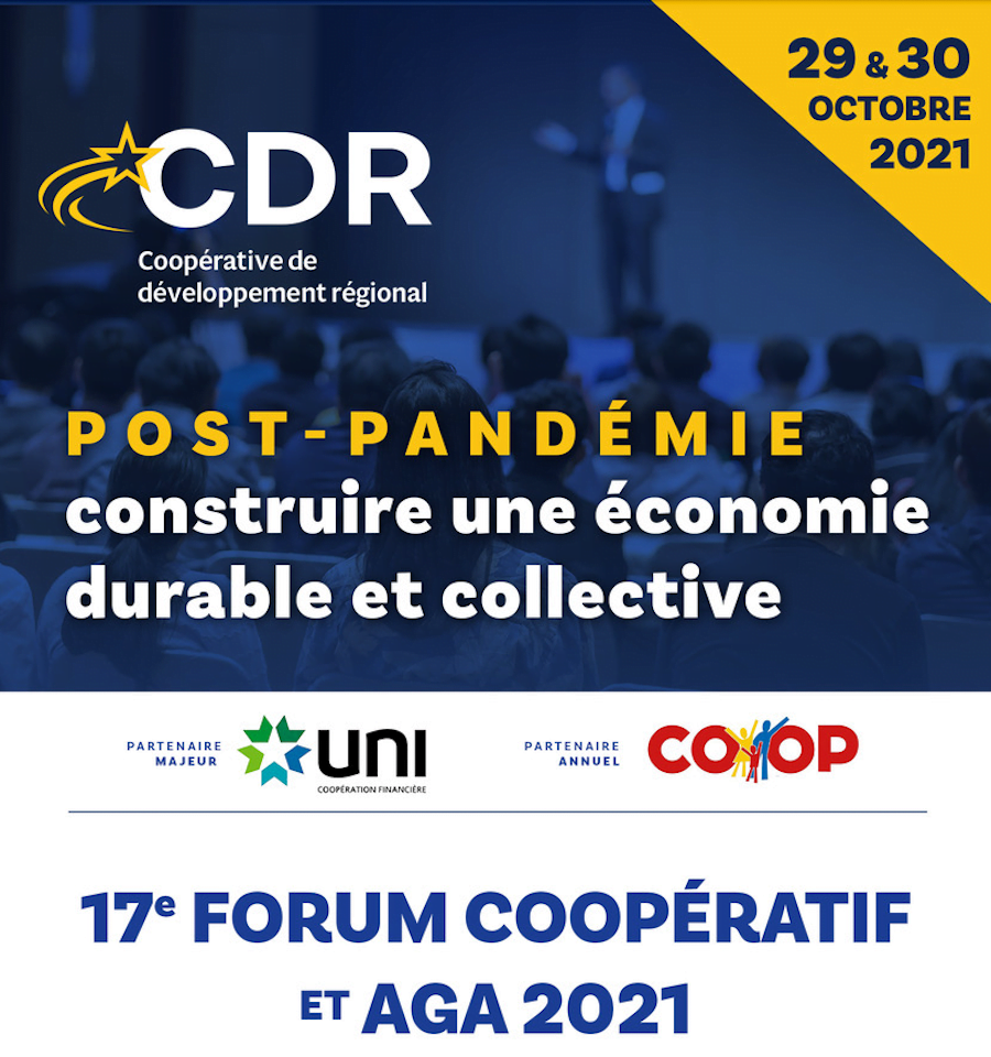 Annonce 17e forum coopératif et AGA 2020