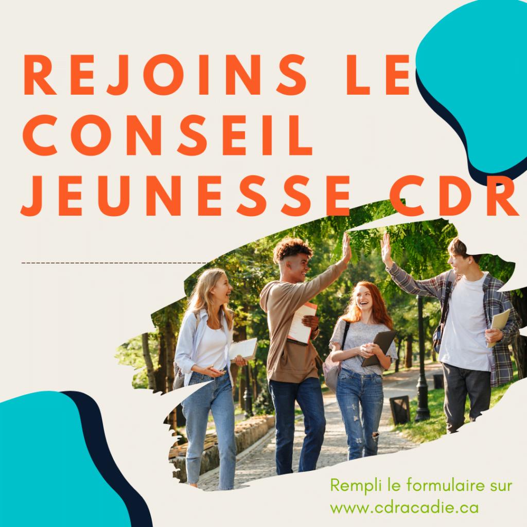 Rejoins le Conseil Jeunesse CDR
